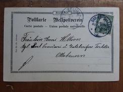 GERMANIA IMPERO - Cartolina Con Fracobollo Da 3 Pesa - Viaggiata Inizio 1900 + Spedizione Prioritaria - Usati
