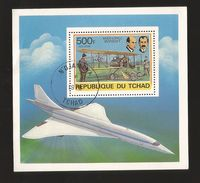 A) 1978 REPUBLIC OF CHAT, CENTRAL AFRICA, AVIATION, WILBUR AND ORVILLE WRIGHT, AIRPLANE, SOUVENIR SHEETS CTP. - Chad (1960-...)