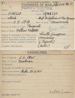 CARTOLINA PRIGIONIERI POW CAMP 337 HERBA SUDAN 1941 MARCIANISE + CASUALTIES - Military Mail (PM)