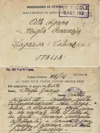 CARTOLINA PRIGIONIERI POW CAMP 307 FAYED EGITTO 1943 X ZAGARISE - Militärpost (MP)