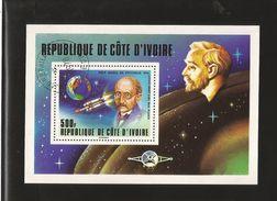 A) 1978 IVORY COAST, REPUBLIQUE DE COTE D'IVOIRE, PEOPLE, SKY, MAX PLANCK, NOBEL PRIZE, PHYSICAL, SOUVENIR SHEETS CTP. - Ivory Coast (1960-...)