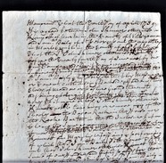 """1739 Agreement Between """"John Skinner"""" And """"Sam'l Bayley"""" Witnessed By John Jeofforie And J H And J Williard.  Ref 0386 - Autographs"""