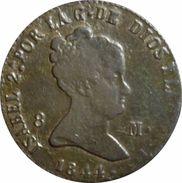 ESPAÑA. ISABEL II. 8 MARAVEDÍS 1844. SEGOVIA. ESPAGNE. SPAIN COIN - [ 1] …-1931 : Reino