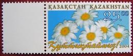 Kazakhstan  2004  Congratulation!  Flowers  1 V.  MNH - Flora