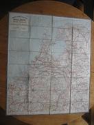 Ancienne & Grande Carte Routière Entoilée De La HOLLANDE (PAYS-BAS, NEDERLAND) - Editeur A. TARIDE, PARIS - Roadmaps