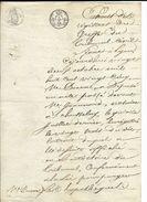 Extrait Du Registre Du Greffe Du Tribunal Civil Lyon Le 22 Octobre 1825 - Cachets Généralité