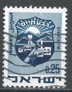 Israel 1969. Scott #390 (U) Arms Of Giv'atayim, Armoirie - Israel