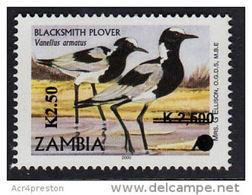 Zm1095 ZAMBIA 2013, SG1095 New Currency K2.50 On  K2,500 On 'A' Birds  MNH - Zambia (1965-...)