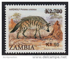 Zm1094 ZAMBIA 2013, SG1094 New Currency K1.50 On K2,700 Animals  MNH - Zambia (1965-...)