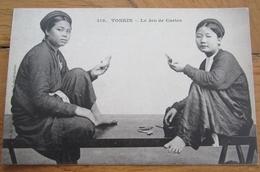 Indochine Tonkin Le Jeu De Cartes   Cpa - Viêt-Nam