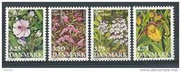 Danemark 1990 Série Neuve**  N° 984/987 Fleurs - Nuovi