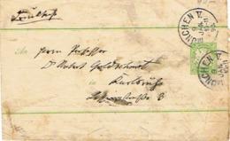 Bayern 1867 - Brief Mit Aufgedruckter Freimarke 3 Kronen - Bavaria