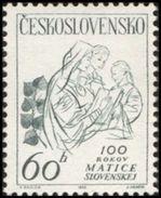 Czechoslovakia / Stamps (1963) 1299: 100 Years Of Matica Slovenska (Cultural Provisions); Painter: Aurel Kajlich - Persönlichkeiten