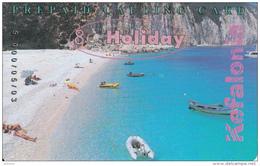 GREECE - Kefalonia Island/Myrtos Beach, Amimex Prepaid Card 8 Euro, Tirage 5000, 05/03, Used - Greece