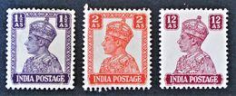 GEORGE VI 1939/43 - NEUFS ** - YT 166/67 + 173 - Indien (...-1947)