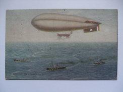 RNAS Coastal Airship On Convoy Duty, WW1. War Bond Campaign Series No.6. 1917 - Dirigeables