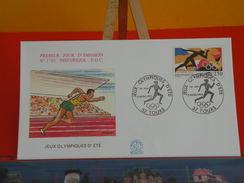 Coté 3€ - Jeux Olympiques D'Été - 3.4.1992 - 37 Tours - FDC 1er Jour - 1990-1999