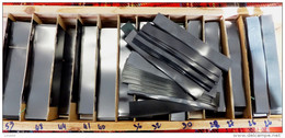 300 GR. DE BANDES HAWID SIMPLE SOUDURE FOND NOIR - LONGUEUR 210mm X HAUTEUR AU CHOIX.+ 10% GRATUIT- VOIR INFO - Fächer