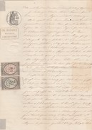 Manuscrit 5/9/1879 4 Pages   Montagnac Hérault Timbres Fiscaux Copies Dimension - Manuscrits