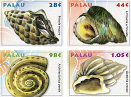 PALAU   963-6  MINT NEVER HINGED SET OF STAMPS OF FISH-MARINE LIFE  SHELS (   0916 - Pesci