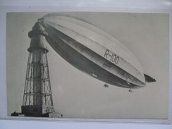 R100 Zeppelin - Modern Postcard From USA With `Rubber City Stamp Club` Handstamp - Airships