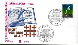 ALLEMAGNE  FDC 1973   Journée Evangelique Tete - Cristianesimo