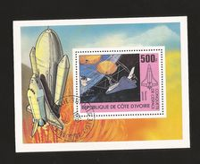 A) 1981 IVORY COAST, SPACECRAFT, FLY, SPACE, PLANE, SOUVENIR SHEETS CTP. - Ivory Coast (1960-...)