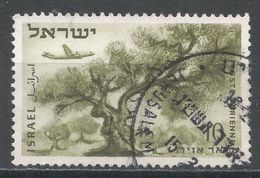 Israel 1954. Scott #C9 (U) Plane Over Olive Tree - Poste Aérienne