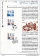"""(Prix à La Poste = 5.00 €) Document Officiel 2008 """" FRANCE - CANADA FONDATION DE QUEBEC """" N° YT 4182 + Timbre Canad - Emissions Communes"""