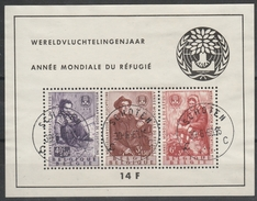 Blok 32 Vluchtelingen/ Mondiale Du Réfuge Oblit/gestp Centrale - Blocs 1924-1960