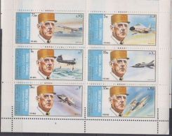 Sharjah Charles De GAULLE Plane Avion Concorde MNH - De Gaulle (Général)