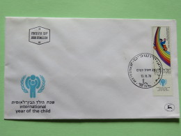 Israel 1979 FDC Cover - Rainbow - International Year Of The Child - Israël