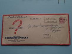 LEDERHANDEL Gebroeders DIRICKX Brederodestraat 128 ANTWERPEN ( Envelop / Omslag ) Nieuwjaarsbons : Zie Foto's ! - Publicidad