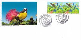 Carte Voyage Aux Caraïbes, La Martinique , Le Colibri à Tête Bleu, Le Sucrier Fal Jaune 8/5/2015 St Pierre - Marcophilie (Lettres)