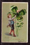 387p * GREETINGS ON ST.PATRICK'S DAY * PRÄGEDRUCK * 1908 **!! - Saint-Patrick's Day