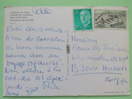 "Spain 1967 Postcard """"Bull Fighting"""" To Belgium - Santa Maria De Veruela Monastery - Franco - 1961-70 Lettres"