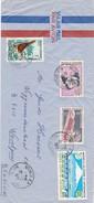 Nouvelle Caledonie : Brief Van Noumea Naar Belgie   Met Zegels : 342 - 345 - 367 En PA 117 - Nouvelle-Calédonie