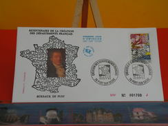 Coté 3€ - Bicentenaire De La Création Des Département Français - 13.10.1990 - 70 Port Sur Saône - FDC 1er Jour - 1990-1999