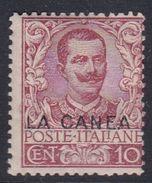 Italy-Italian Offices Abroad-La Canea  S6 1905  10c Carmine Mint Hinged - La Canea