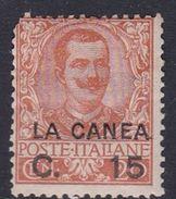 Italy-Italian Offices Abroad-La Canea  S7 1905  15con 20c Orange Mint Hinged - La Canea