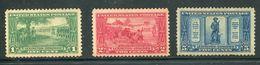 US  617-19 *  F/vf  VLH  Complete Set - Unused Stamps