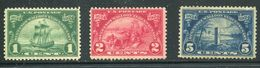 US  614-16 *  F/vf  VLH  Complete Set - Unused Stamps