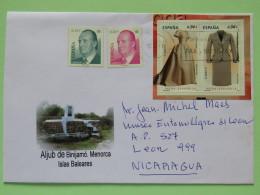 Spain 2011 Cover Mahon Baleares To Nicaragua - Moda Dresses - King - 1931-Aujourd'hui: II. République - ....Juan Carlos I