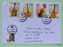 Spain 2011 Cover Porto Colon Baleares To Nicaragua - King - Music Instruments Guitars - 1931-Aujourd'hui: II. République - ....Juan Carlos I