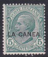 Italy-Italian Offices Abroad-La Canea  S14 1907-12, 5c Green Mint Hinged - La Canea
