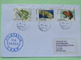 Spain 2013 Cover Madrid To Nicaragua - Frogs - 1931-Aujourd'hui: II. République - ....Juan Carlos I