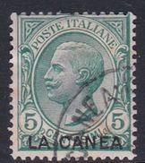Italy-Italian Offices Abroad-La Canea  S14 1907-12, 5c Green Used - La Canea