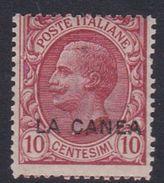 Italy-Italian Offices Abroad-La Canea  S15 1907-12, 10c Rose Mint Hinged - La Canea