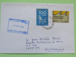 Spain 2014 Cover Mohon Baleares To Nicaragua - Gran Via Madrid - European Union Spanish Presidency - 1931-Aujourd'hui: II. République - ....Juan Carlos I