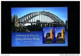 AUSTRALIA - 2007 SYDNEY HARBOUR BRIDGE   MS MINT NH - Blocchi & Foglietti